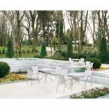 Składany stół ogrodowy plastikowy Forza srebrnoszary 80x80 Siesta