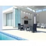 Stolik ogrodowy technorattanowy Miami 45x45 ciemnoszary Siesta