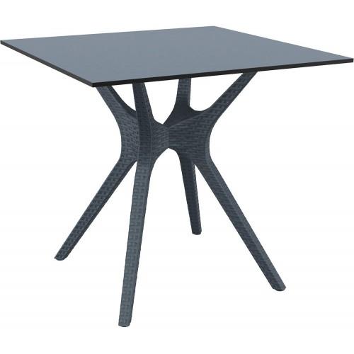 Stół ogrodowy kwadratowy Ibiza 80x80 ciemnoszary Siesta do salonu