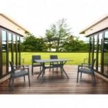 Stół ogrodowy Ibiza 140x80 ciemnoszary Siesta do salonu