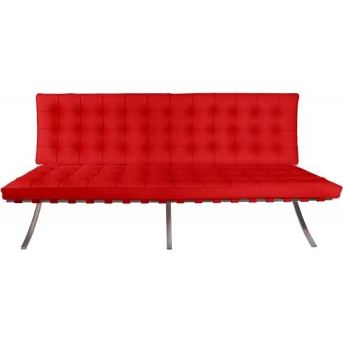 Stylowa Sofa skórzana pikowana 2 os. BA2 150 skóra D2.Design do salonu