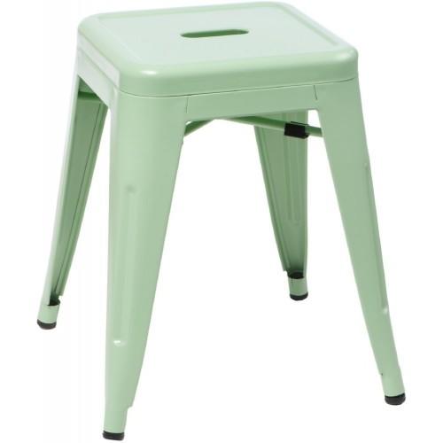 Stylowy Taboret metalowy Paris zielony D2.Design do kuchni i przedpokoju.