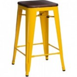 Hoker metalowy Paris Wood 65 sosna orzech/żółty D2.Design do kuchni