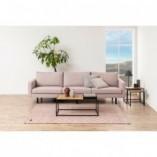 Zestaw stolików kwadratowych loft Seaford dąb/czarny D2.Design do salonu.