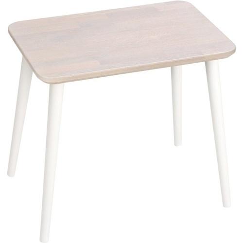 Prostokątny stolik kawowy skandynawski Scandi White dąb bielony/biały 47 MoonWood do salonu