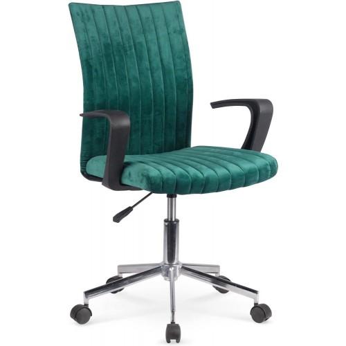 Fotel młodzieżowy do biurka Doral ciemno zielony Halmar.