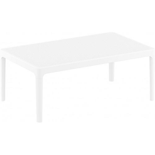 Stolik tarasowy Sky 100x60 biały Siesta