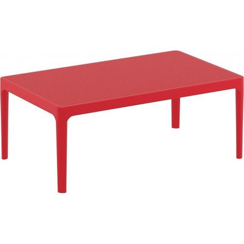 Stolik tarasowy Sky 100x60 czerwony Siesta