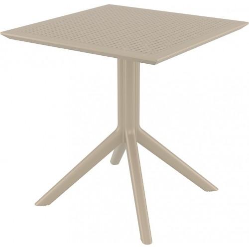 Stół ogrodowy plastikowy Sky 70x70 beżowy Siesta