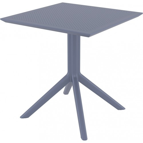 Stół ogrodowy plastikowy Sky 70x70 ciemno szary Siesta
