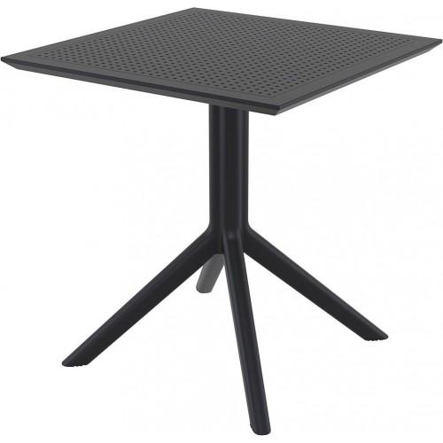 Stół ogrodowy plastikowy Sky 70x70 czarny Siesta