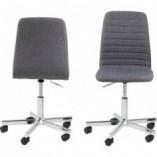 Krzesło biurowe obrotowe Amanda Szare Actona do biurka.