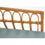Fotel rattanowy boho Gardena naturalny Halmar na taras, balkon i do ogrodu.