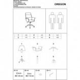 Fotel gabinetowy Oregon czarny/orzech Signal do biurka.