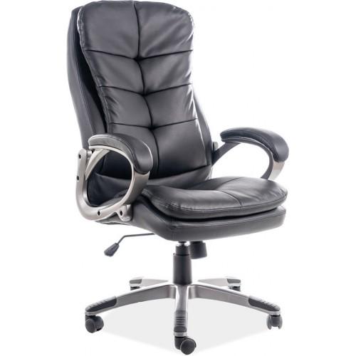 Fotel gabinetowy Q-270 czarny Signal do biurka.
