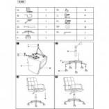 Krzesło biurowe welurowe Q-022 Velvet antyczny róż Signal do biurka.