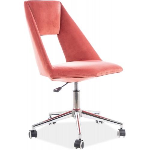Krzesło biurowe obrotowe Pax Velvet antyczny róż Signal do biurka.