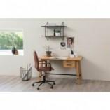 Krzesło biurowe obrotowe Winslow Brązowe Actona do biurka.