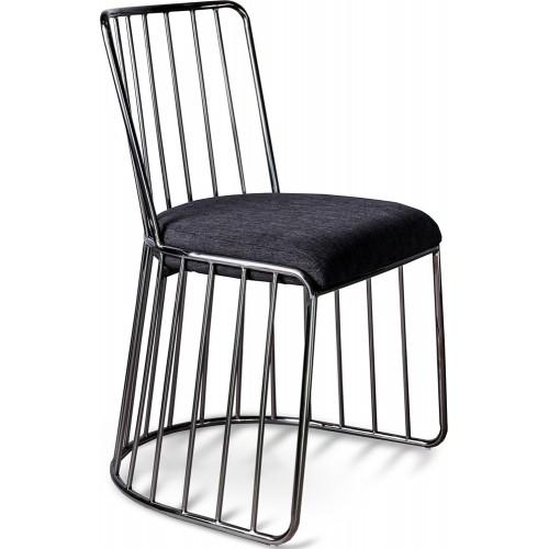 Stylowe Krzesło druciane glamour Fiji czarne Gilli do kuchni i jadalni.