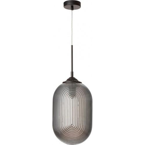 Stylowa Lampa wisząca szklana Pelota 22 szara do kuchni i salonu.