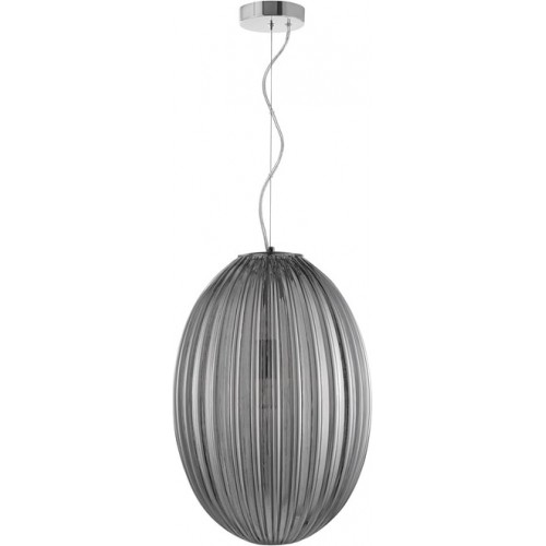 Stylowa Lampa wisząca szklana owalna Jong 30 szara do kuchni i salonu.