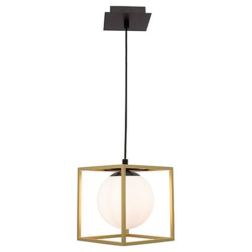 Lampa wisząca szklana glamour Stella 18 mosiężno-biała do salonu i jadalni.