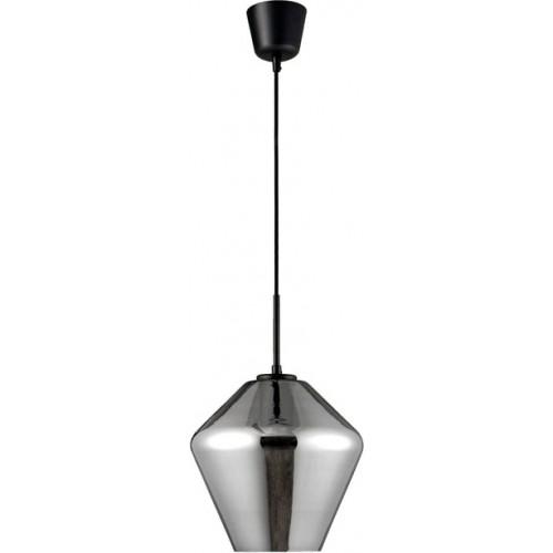 Lampa wisząca szklana nowoczesna Renne 23 szary/chrom do jadalni i salonu.