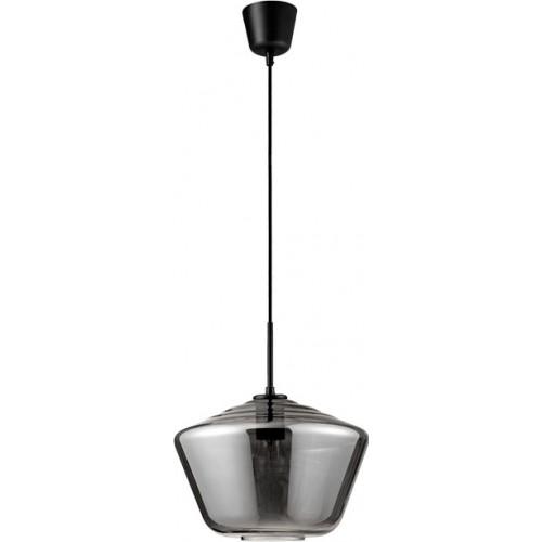 Lampa wisząca szklana nowoczesna Renne 30 szary/chrom do jadalni i salonu.