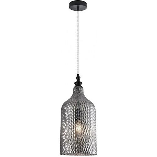 Stylowa Lampa wisząca szklana dekoracyjna Tauron 19 szkło dymione do kuchni i salonu.