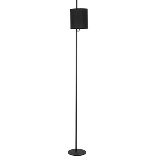 Lampa podłogowa minimalistyczna z abażurem Manaya czarna do salonu i sypialni.
