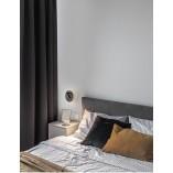 Stylowy Kinkiet okrągły z włącznikiem Runda LED czarny mat do sypialni i salonu.