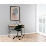 Krzesło biurowe welurowe Grace VIC brudny róż Actona do gabinetu domowego i biura.