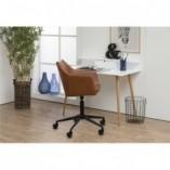 Krzesło biurowe welurowe Nora Brandy brązowy Actona do gabinetu domowego i biura.