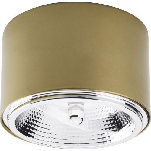 Lampa spot punktowa okrągła Moris 11 złota TK Lighting do kuchni i przedpokoju.