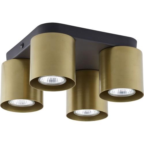 Stylowa Lampa glamour punktowa Vico IV złota TK Lighting do kuchni i przedpokoju.