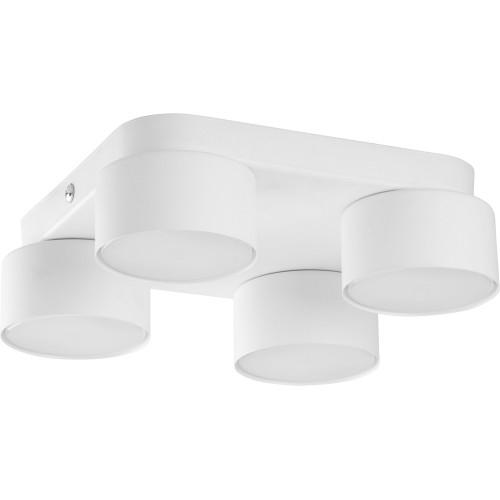 Stylowa Lampa sufitowa 4 punktowa Space White 22 biała TK Lighting do kuchni i przedpokoju.