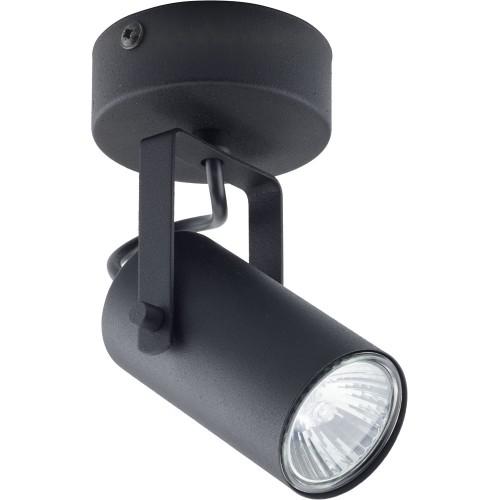Regulowany Reflektor sufitowy kierunkowy Redo czarny TK Lighting do kuchni i przedpokoju.