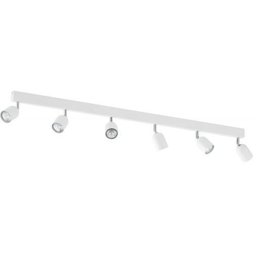 Regulowany Reflektor kierunkowy 6 punktowy Top biały TK Lighting do kuchni i przedpokoju.