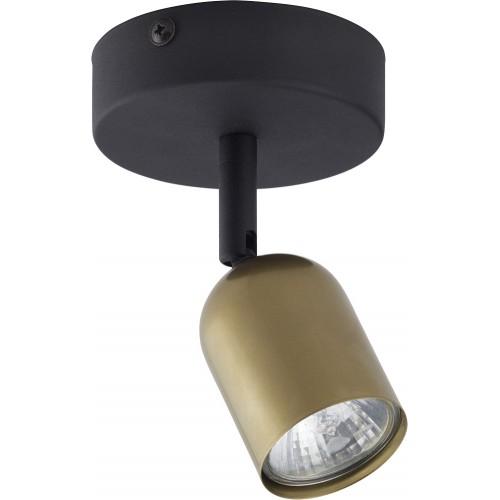 Regulowany Reflektor kierunkowy Top złoto-czarny TK Lighting do kuchni i przedpokoju.