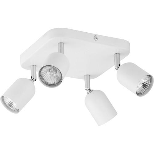 Regulowany Reflektor kierunkowy 4 punktowy Top biały TK Lighting do kuchni i przedpokoju.