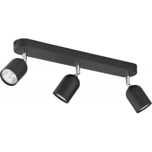 Regulowany Reflektor kierunkowy potrójny Top czarny TK Lighting do kuchni i przedpokoju.