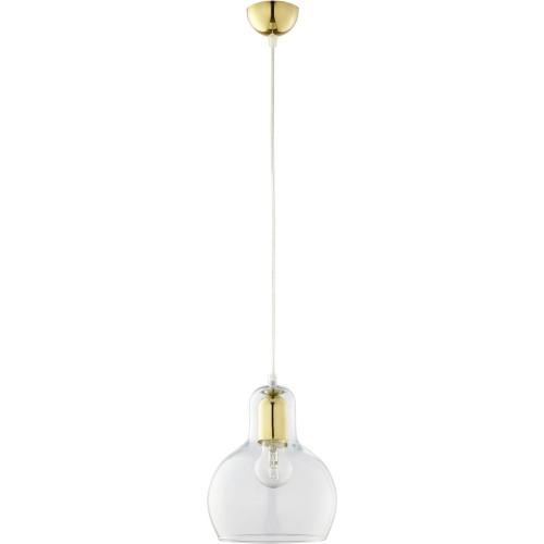 Lampa szklana wisząca glamour Mango 18 przezroczysto-złota TK Lighting do salonu i jadalni.