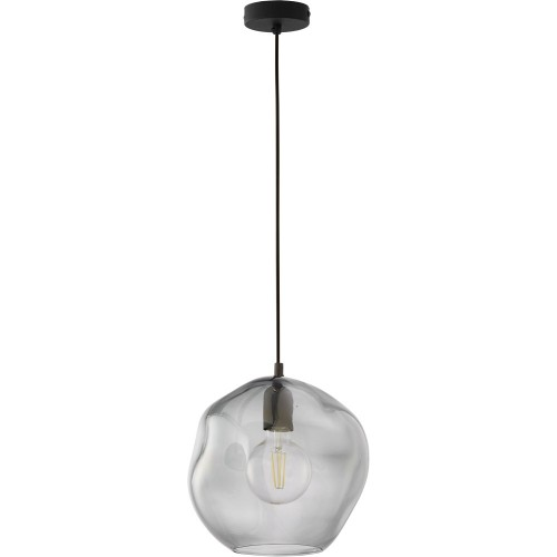 Stylowa Lampa wisząca szklana loft Sol 25 grafitowa TK Lighting do kuchni i salonu.