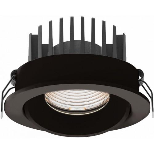 Oprawa wpustowa łazienkowa Cyklop 9 LED czarna MaxLight do łazienki i toalety.
