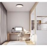 Plafon minimalistyczny okrągły Hard 42 LED czarny MaxLight do przedpokoju i sypialni.
