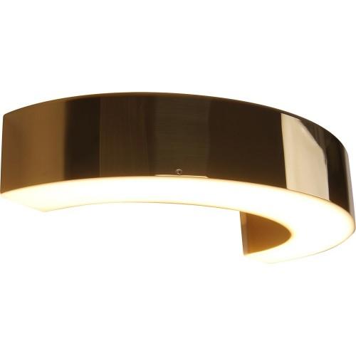 Kinkiet glamour/nowoczesny Lotus LED złoty MaxLight do sypialni i salonu.