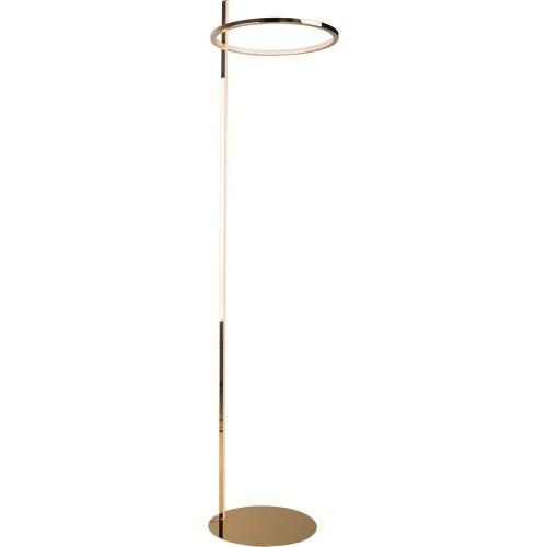 Lampa podłogowa glamour Lozanna LED złota MaxLight do salonu i sypialni.