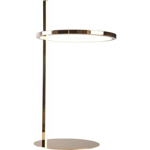 Lampa stołowa glamour Lozanna LED złota MaxLight do salonu lub na szafkę w sypialni.