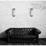 Kinkiet szklany glamour Montreal chromowany MaxLight do sypialni i salonu.