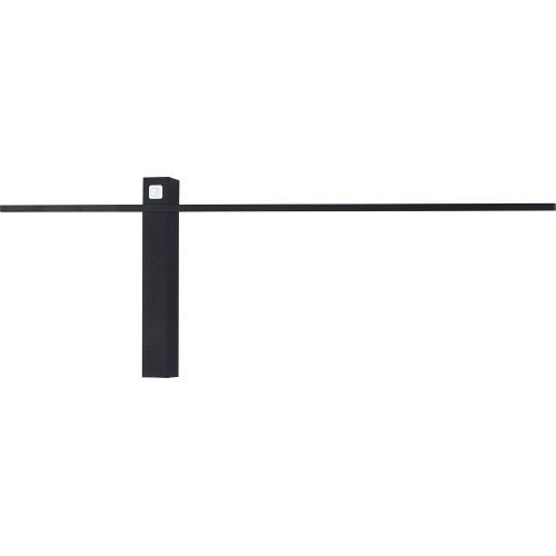 Kinkiet minimalistyczny podłużny Sabre 61 LED czarny MaxLight do łazienki.